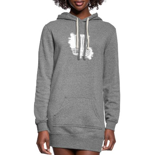 Disc Golf Basket White Print - Women's Hoodie Dress