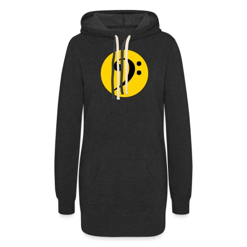 Bass Clef in Circle - Women's Hoodie Dress