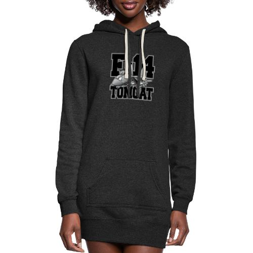F-14 Tomcat Military Fighter Jet Aircraft Cartoon - Women's Hoodie Dress