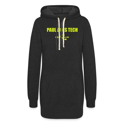 Paul Does Tech Logo Yellow With USB (BS) - Women's Hoodie Dress