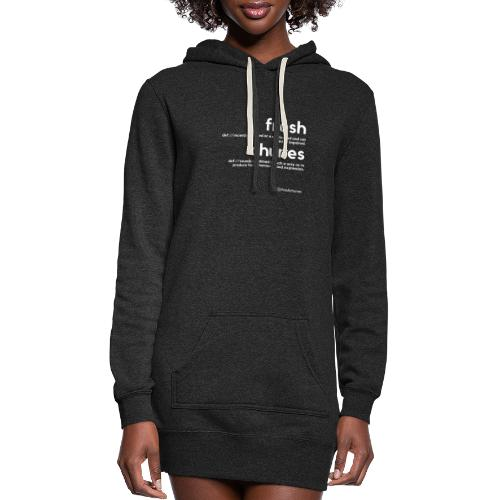 Clothing for All Urban Occasions (Bk+Wt) - Women's Hoodie Dress