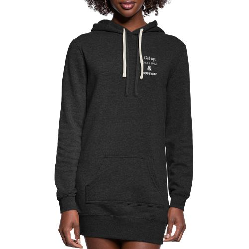 MOVE ON LYRIC LOGO / AMBER EYES LOGO DOUBLE SIDED - Women's Hoodie Dress