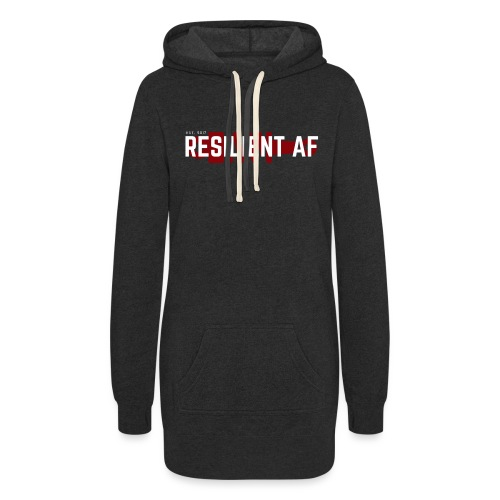 RESILIENT WHITE with red - Women's Hoodie Dress