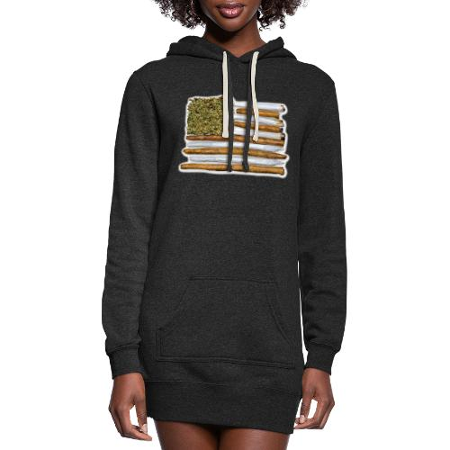 American Flag With Joint - Women's Hoodie Dress