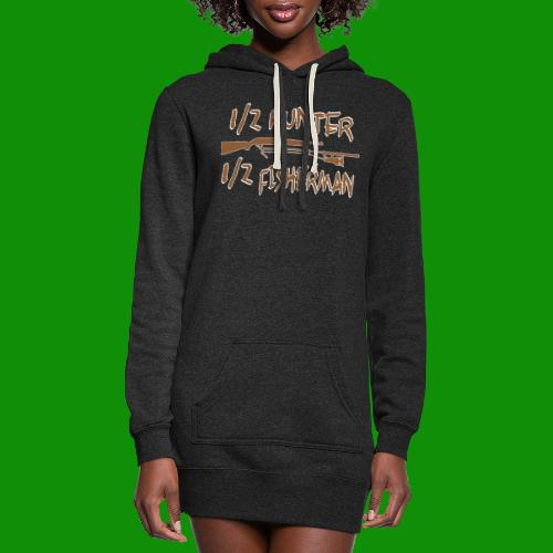 1/2 Hunter 1/2 Fisherman - Women's Hoodie Dress