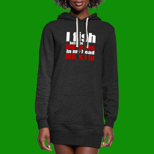 Fishing Voices - Women's Hoodie Dress