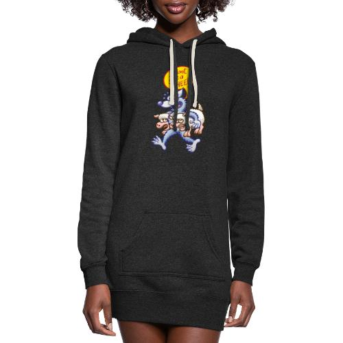 Evil wolf saying that he doesn't give a sheep - Women's Hoodie Dress