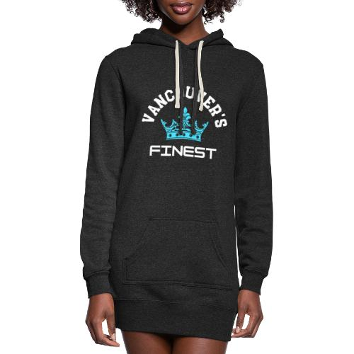 Vancouver's Finest white and blue print - Women's Hoodie Dress