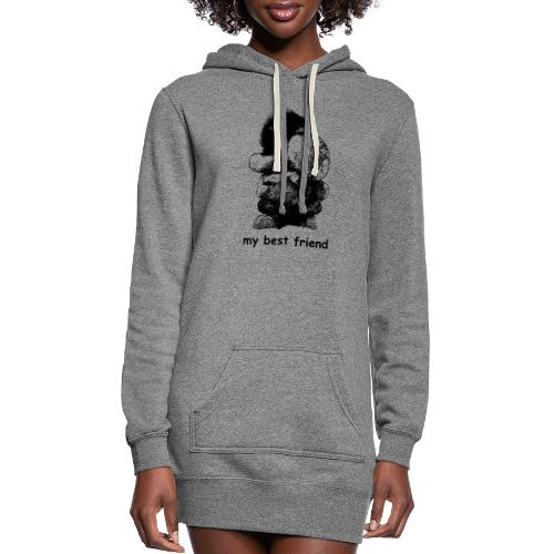 My best friend (girl) - Women's Hoodie Dress
