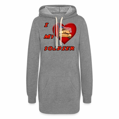 I Heart my Soldier - Women's Hoodie Dress