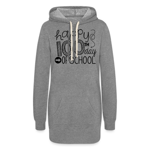 Happy 100th Day of School Arrows Teacher T-shirt - Women's Hoodie Dress