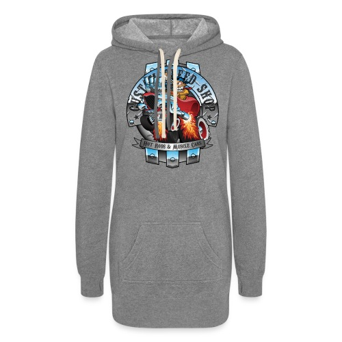 Custom Speed Shop Hot Rods and Muscle Cars Illustr - Women's Hoodie Dress