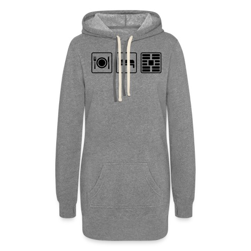 Eat Sleep Urb big fork - Women's Hoodie Dress