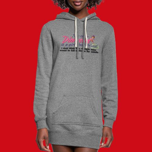 Softball Diamond is a girls Best Friend - Women's Hoodie Dress