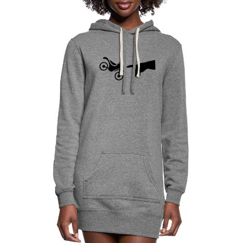 The hand of god brakes a motorcycle as an allegory - Women's Hoodie Dress