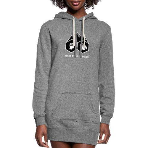 Pikes Peak Gamers Logo (Solid Black) - Women's Hoodie Dress