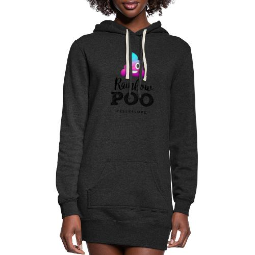 Rainbow Poo - Women's Hoodie Dress