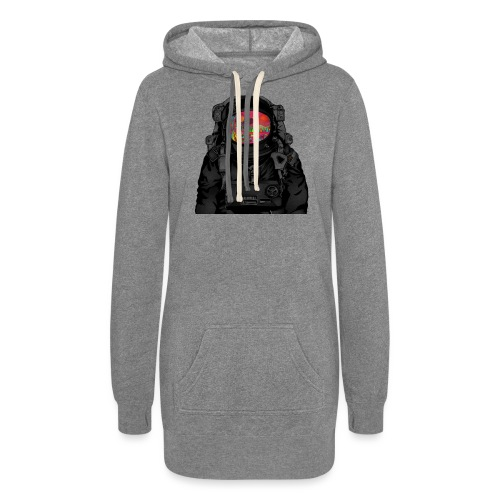 tripped out space man - Women's Hoodie Dress