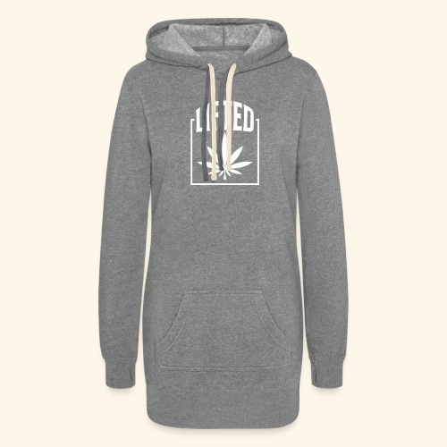 LIFTED T-SHIRT FOR MEN AND WOMEN - CANNABISLEAF - Women's Hoodie Dress