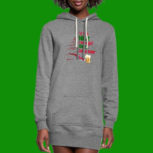 Most Wonderful Time For A Beer - Women's Hoodie Dress