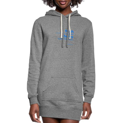 Clothing for All Urban Occasions (Blue) - Women's Hoodie Dress