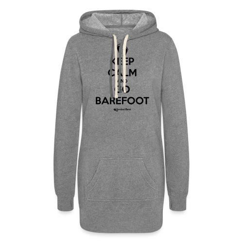 Keep Calm and Go Barefoot - Women's Hoodie Dress