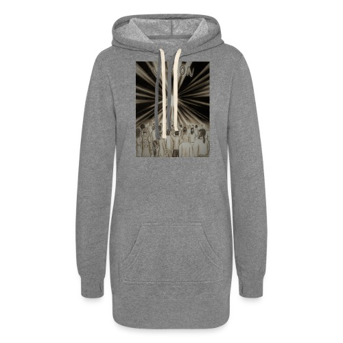 Black_and_White_Vision2 - Women's Hoodie Dress