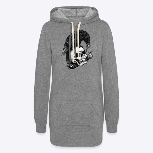Skull Crow - Women's Hoodie Dress