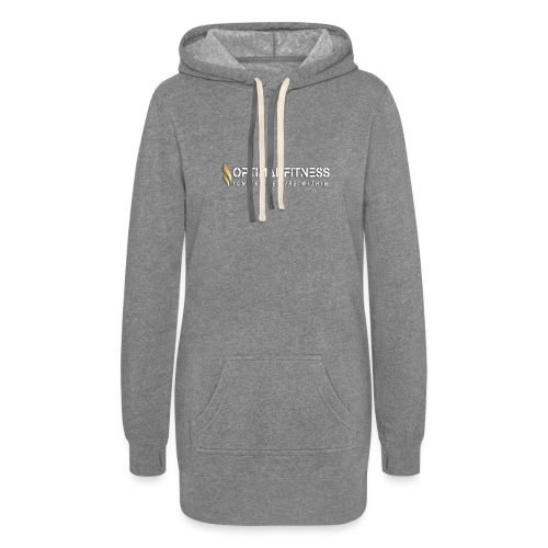 white logo transparent with gold flame - Women's Hoodie Dress