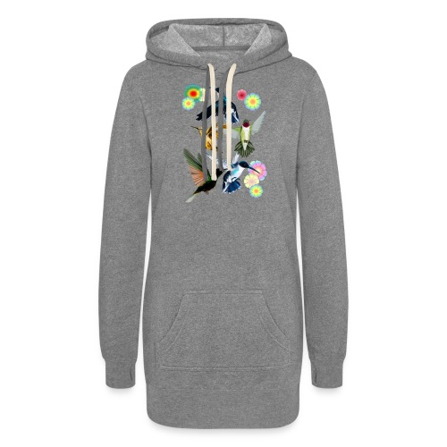 For The Love Of Hummingbirds - Women's Hoodie Dress