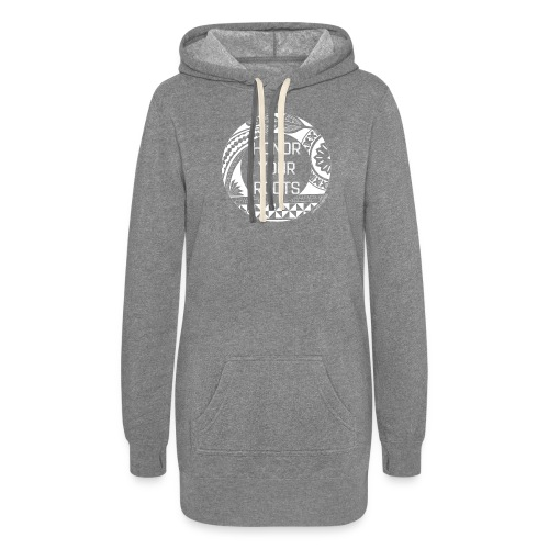 Honor Your Roots (White) - Women's Hoodie Dress