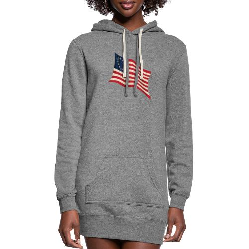 Waving Betsy Ross Flag - Women's Hoodie Dress