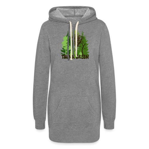 EARTHDAYCONTEST Earth Day Think Green forest trees - Women's Hoodie Dress
