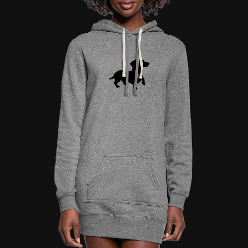 Dachshund love silhouette black - Women's Hoodie Dress