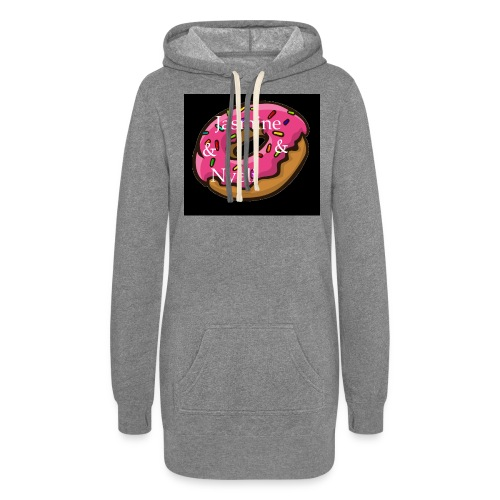 Black Donut W/ Our Channel Name - Women's Hoodie Dress