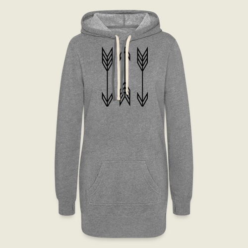 arrow symbols - Women's Hoodie Dress