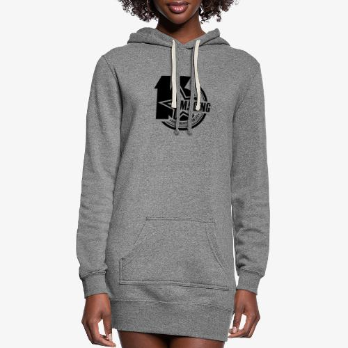 16IMAGING Badge Black - Women's Hoodie Dress