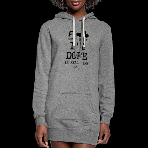 F*** Social Media I'm Dope in Real Life - Women's Hoodie Dress