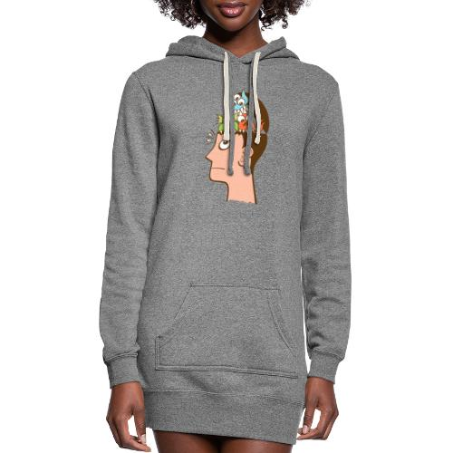 Monsters are inside my head and not under my bed - Women's Hoodie Dress