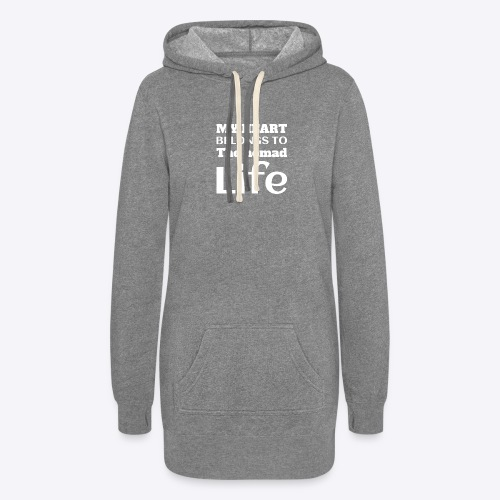 My Heart Belongs to the Nomad Life - Women's Hoodie Dress