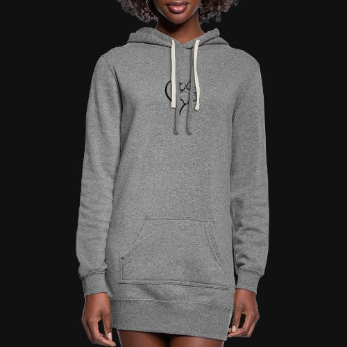 Pawprint on my Heart - Women's Hoodie Dress