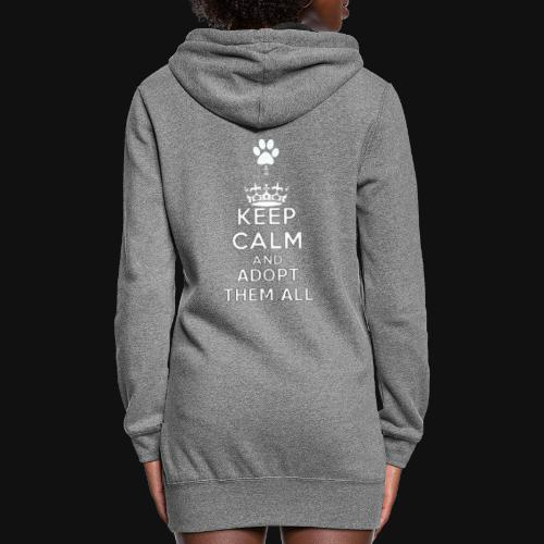 KEEP CALM white - Women's Hoodie Dress