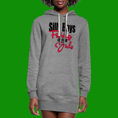 Silly boys, fishing is for girls! - Women's Hoodie Dress
