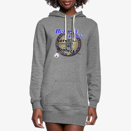 Thin Blue Line - To Serve and Protect - Women's Hoodie Dress