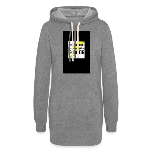 KNOWLEDGE WITH ACTION IS POWER! - Women's Hoodie Dress
