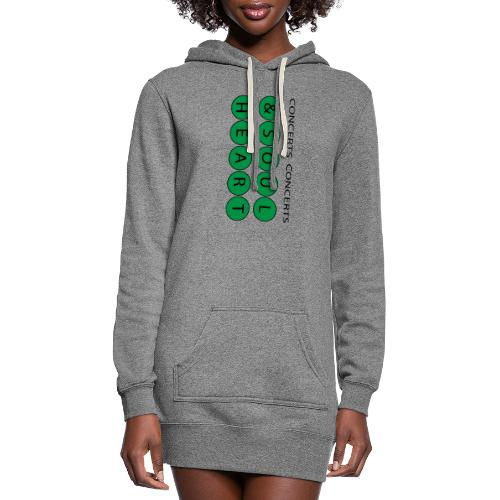 Heart & Soul Concerts text design - Mother Earth - Women's Hoodie Dress