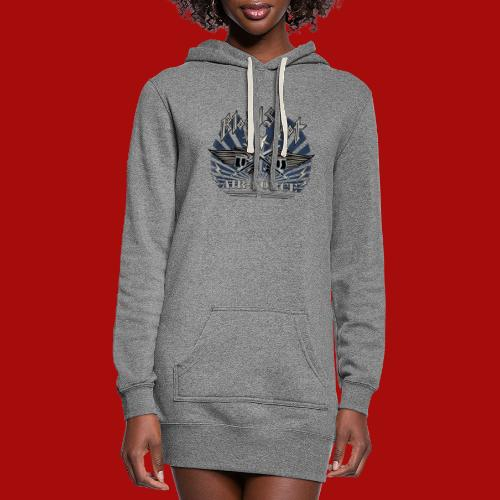BloodShot Air Force with black - Women's Hoodie Dress