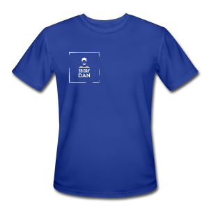 35DD Male White - Men's Moisture Wicking Performance T-Shirt