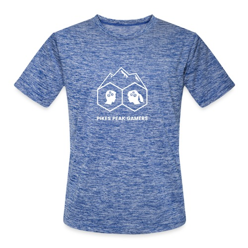 Pikes Peak Gamers Logo (Transparent White) - Men's Moisture Wicking Performance T-Shirt