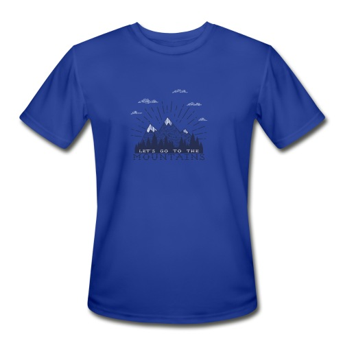 Adventure Mountains T-shirts and Products - Men's Moisture Wicking Performance T-Shirt